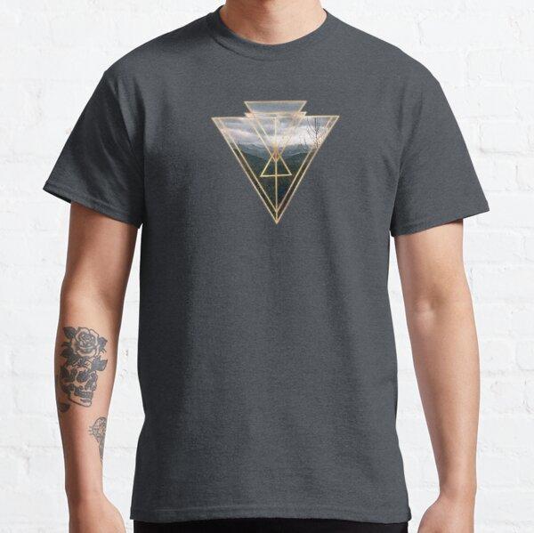 Art Deco Geometric Triangle Mountain Design Classic T-Shirt