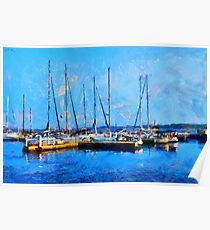 Boats on Ontario Lake on a Nice Sunny Summer Day Poster