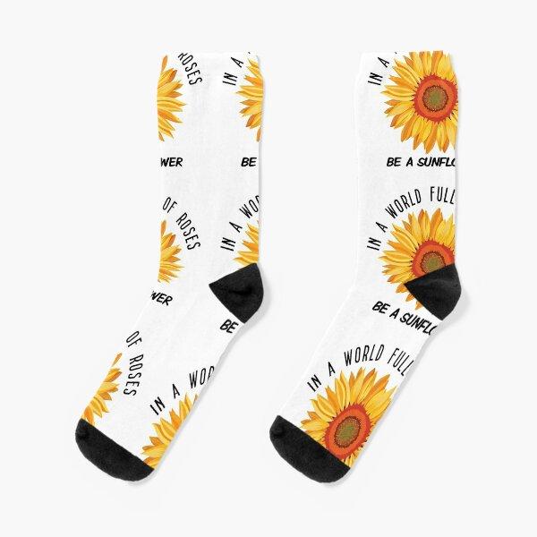 Holding Sunflowers Socks Mens Womens Casual Socks Custom Sports Socks Creative Fashion Crew Socks