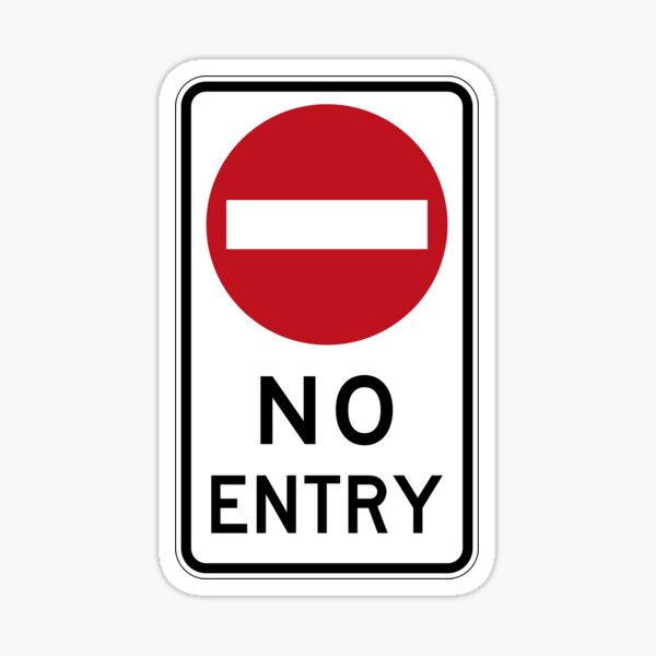 No entry sign Sticker