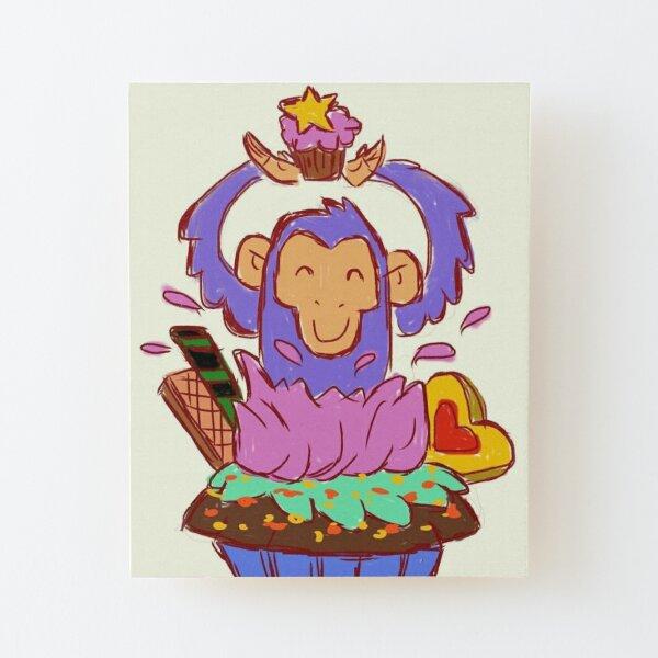 Cupcake Surprise Wood Mounted Print
