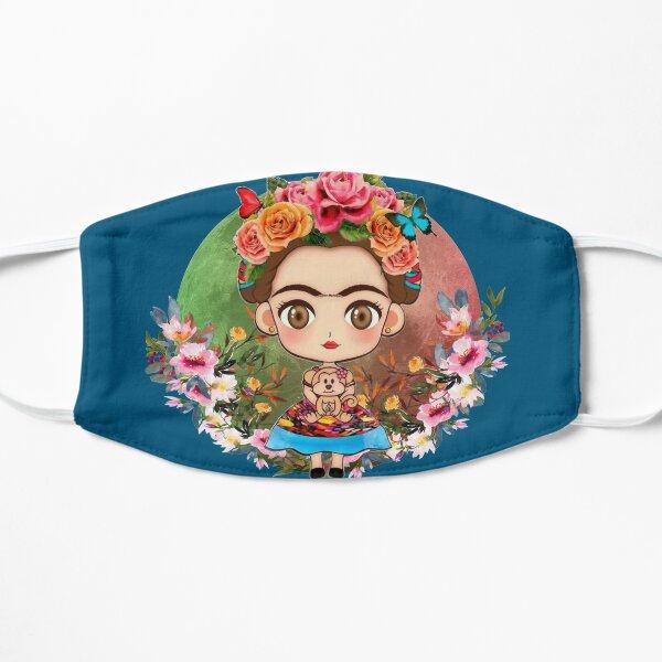 Frida Kahlo Drawing Flowers Mask