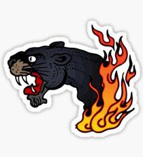 Flamed phanter Sticker