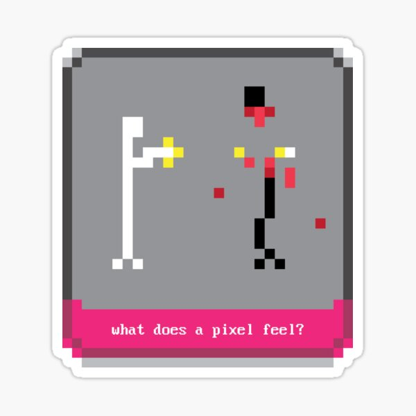 what does a pixel feel? Sticker