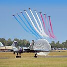 The Red Arrows Salute The Vulcan by Colin  Williams Photography