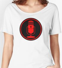 Vintage Red Microphone Women's Relaxed Fit T-Shirt