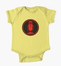 Vintage Red Microphone One Piece - Short Sleeve