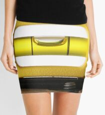 Spirit Level (or bubble level) on white  Mini Skirt