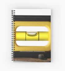 Spirit Level (or bubble level) on white  Spiral Notebook