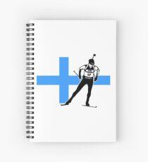 Finland Biathlon  Spiral Notebook