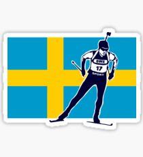 Sweden Biathlon  Sticker