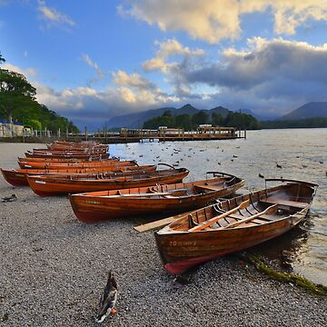 The Lake District: Evening at the Keswick Landing Stages by rob3003