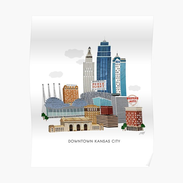 Downtown Kansas City Illustration Poster