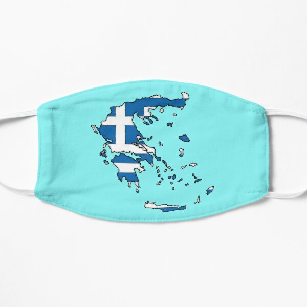 Greece Map With Greek Flag Mask