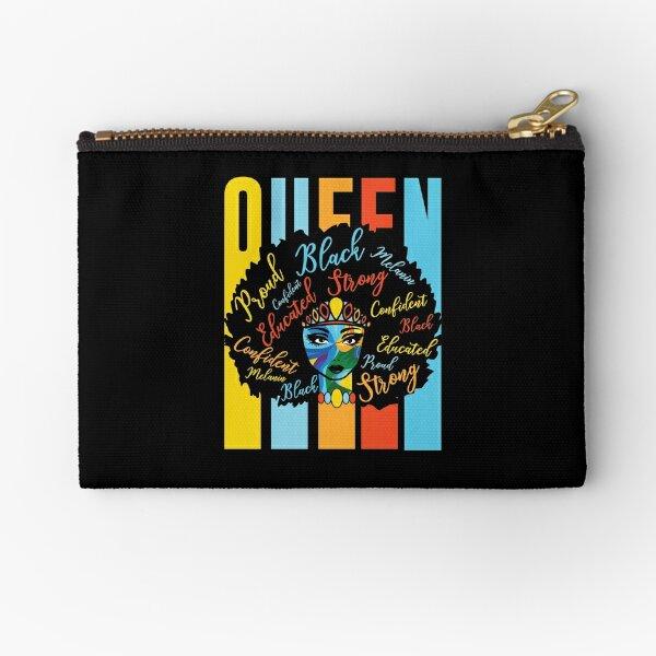 Black Queen African American Pride Power Love Zipper Pouch