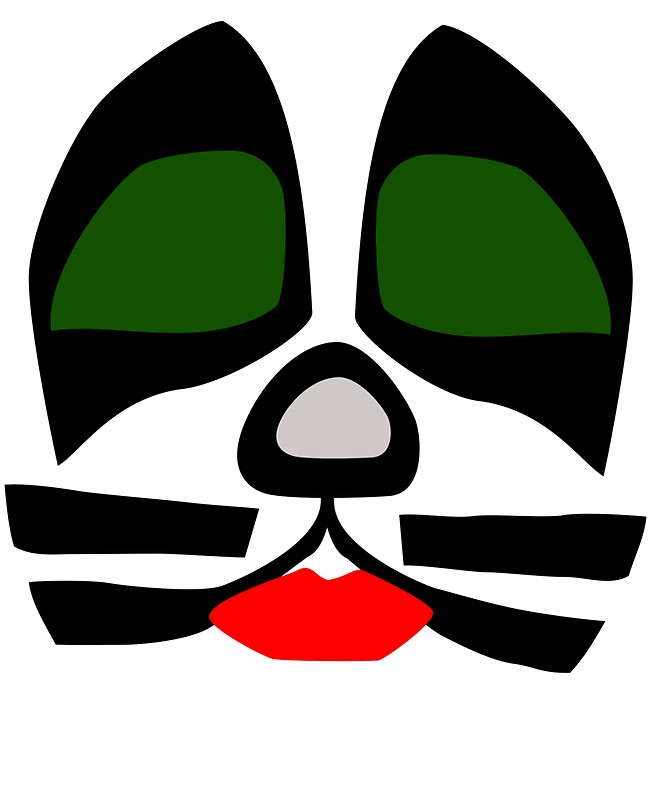 """Kiss Band Makeup: """"Peter Criss From KISS Band, Catman Makeup"""" Stickers By"""
