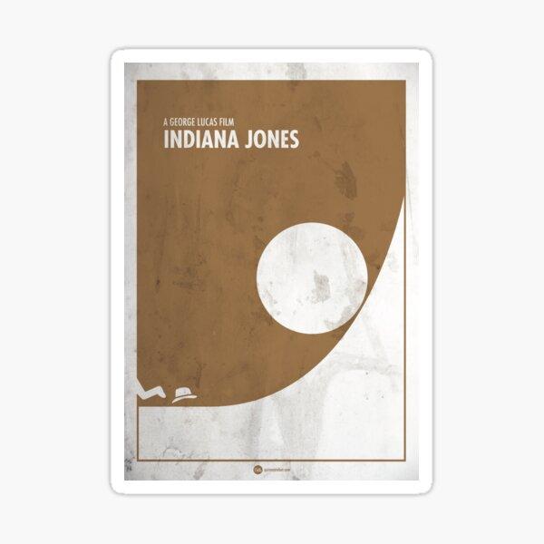 Indiana Jones minimal movie poster Pegatina