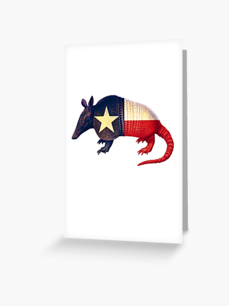 Illustrated Cowboy Armadillo Greetings Card Notecard A is for Armadillo Card
