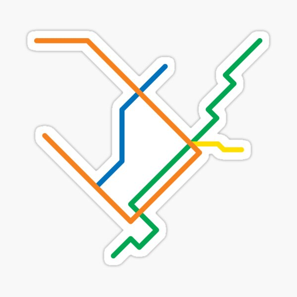 Montreal Métro Map Sticker