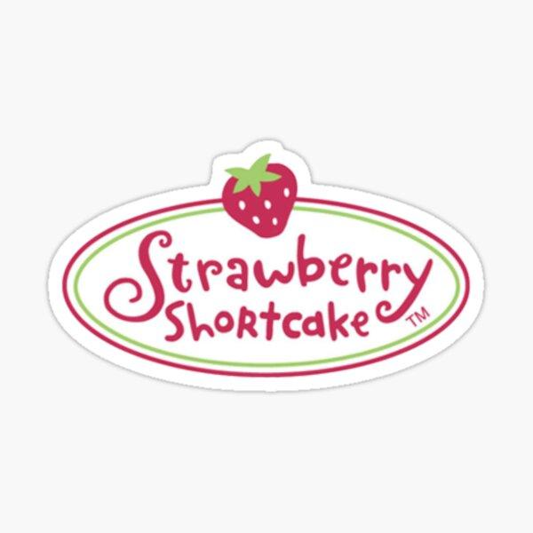 strawberry shortcake logo Sticker