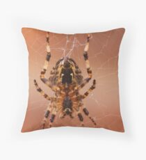 Teeny Weeny Spider Throw Pillow
