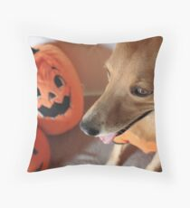 Lucia and the Great Pumpkin Throw Pillow