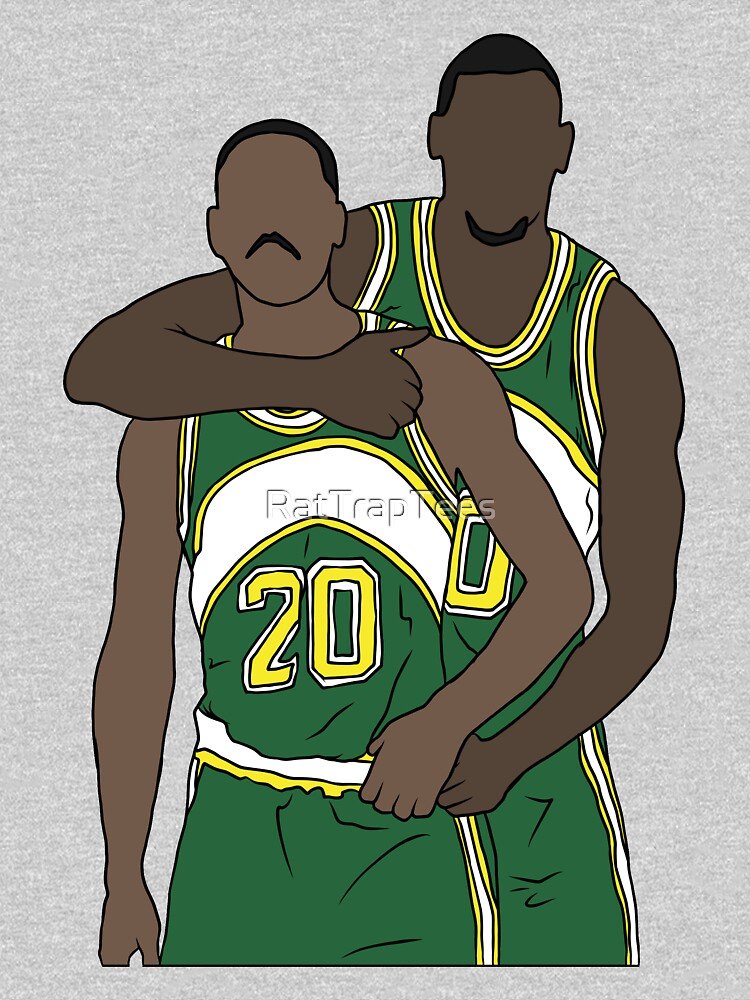 Gary Payton And Shawn Kemp by RatTrapTees