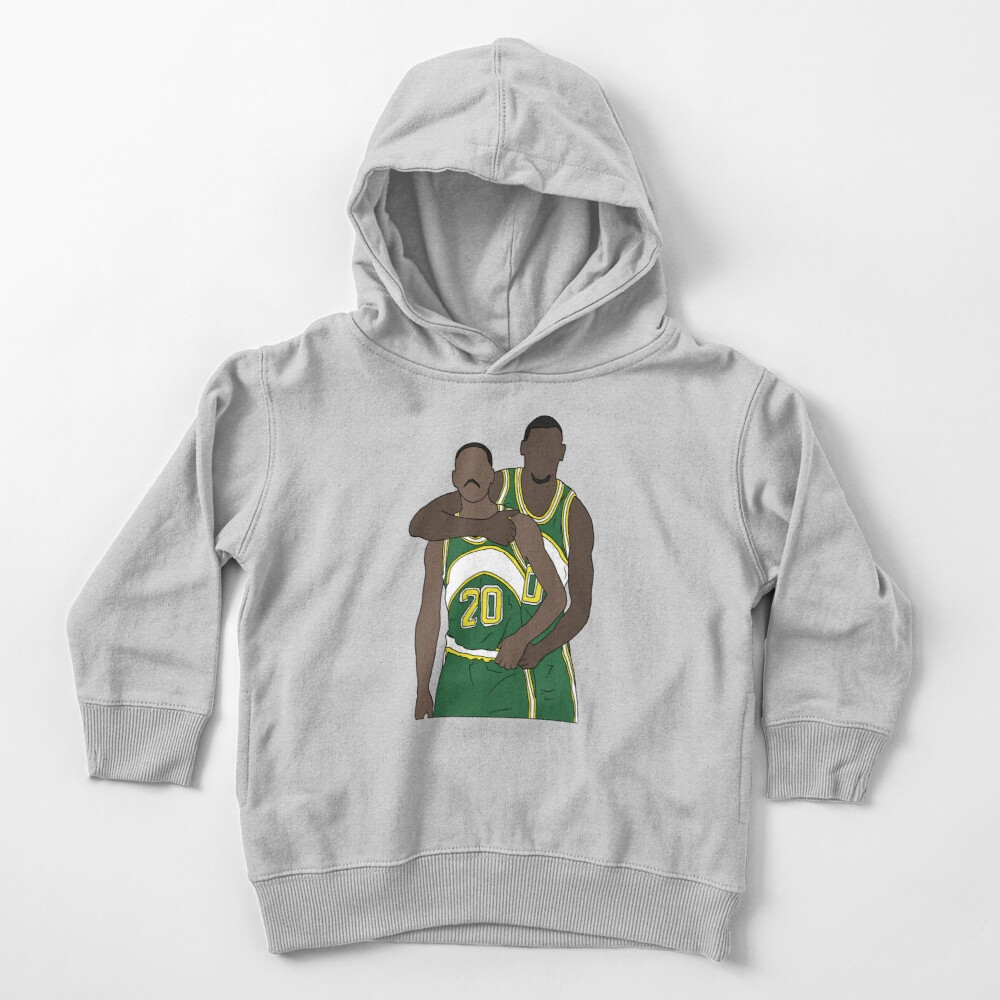 Gary Payton And Shawn Kemp Toddler Pullover Hoodie