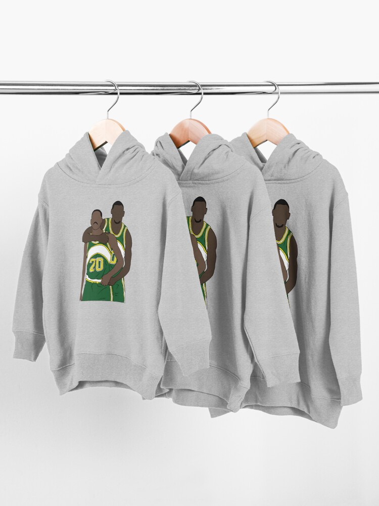 Alternate view of Gary Payton And Shawn Kemp Toddler Pullover Hoodie
