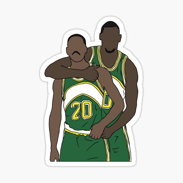 Gary Payton And Shawn Kemp Sticker