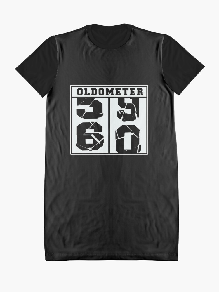 Alternate view of 60 Years Old Oldometer Funny 60th Birthday Gift Graphic T-Shirt Dress