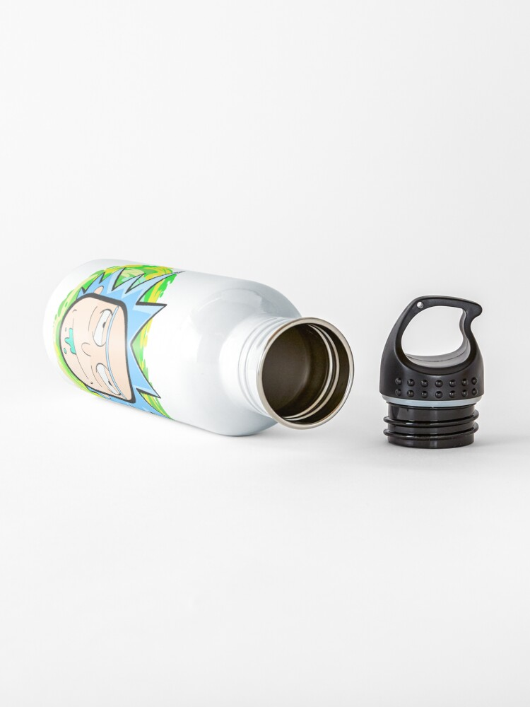 Alternate view of Abstract Rick  head coming from another dimension Water Bottle