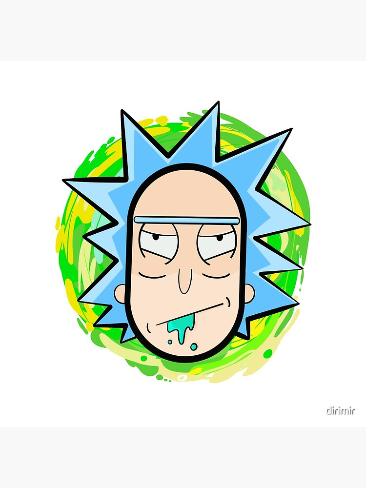 Abstract Rick  head coming from another dimension by dirimir