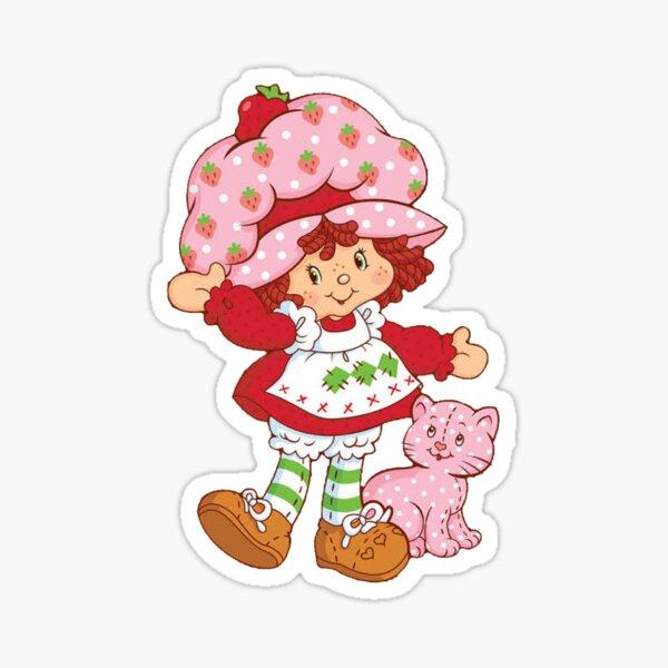 vintage strawberry shortcake Sticker