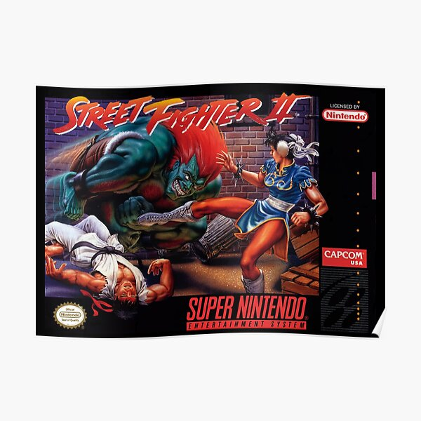 COUVERTURE SNES STREET FIGHTER 2 Poster