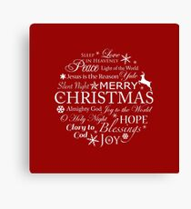 Typography Christmas Words Canvas Print