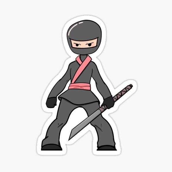 A Little Pink Ninja Sticker