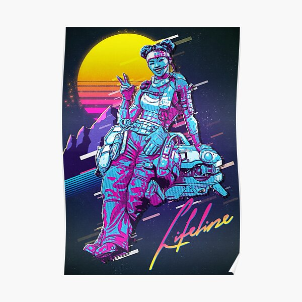 Apex Legends - Lifeline 80s Retro Poster