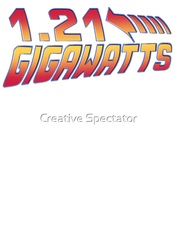 back to the future gigawatts stickers by creative spectator redbubble. Black Bedroom Furniture Sets. Home Design Ideas
