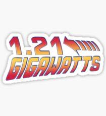Back to the Future 1.21 Gigawatts Sticker