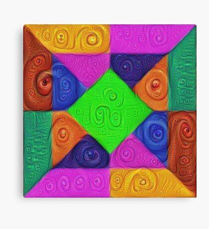 DeepDream Color Squares Visual Areas 5x5K v1448026462 Canvas Print
