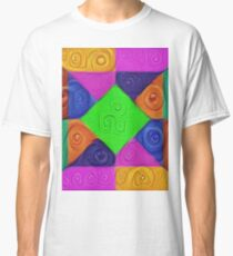 DeepDream Color Squares Visual Areas 5x5K v1448026462 Classic T-Shirt