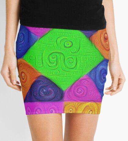DeepDream Color Squares Visual Areas 5x5K v1448026462 Mini Skirt
