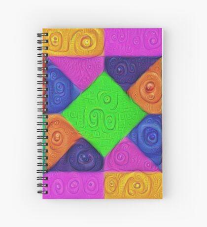 DeepDream Color Squares Visual Areas 5x5K v1448026462 Spiral Notebook