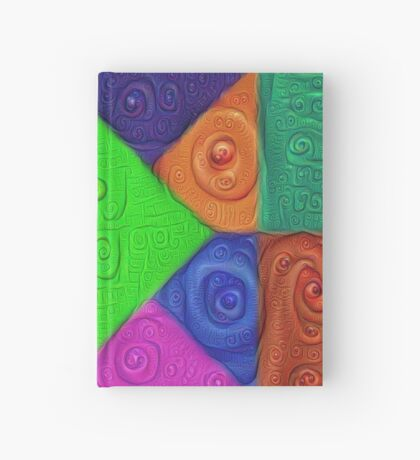 DeepDream Color Squares Visual Areas 5x5K v1448026462 Hardcover Journal