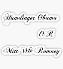 US Presidential candidates Sticker