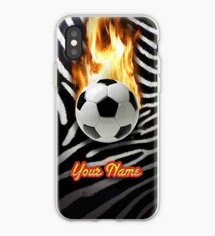 Soccer Ball Zebra (Customizable) - iPhone Case iPhone Case