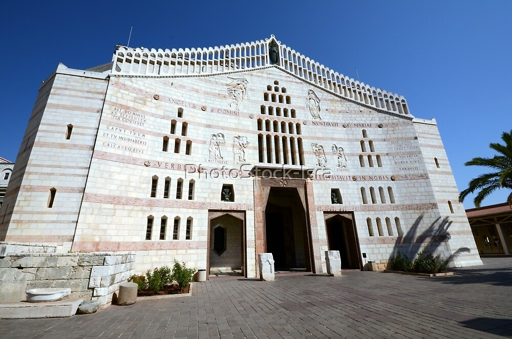 Israel, Nazareth, Exterior of the Basilica of the Annunciation by PhotoStock-Isra