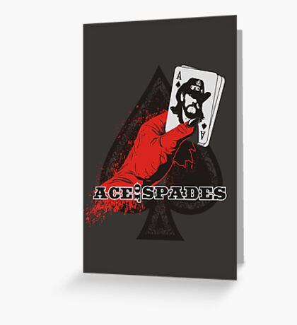 ACE OF SPADES Greeting Card