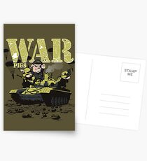 WAR PIGS Postcards